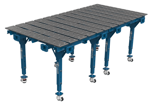 Modular double welding table 1200x1200
